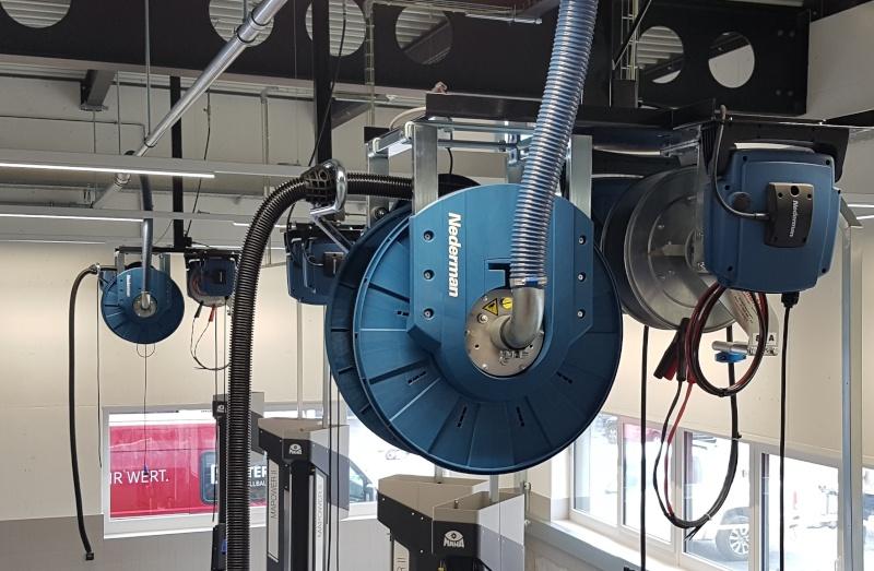 Optimierte Werkstattarbeitsplätze MB Auto Center Zug