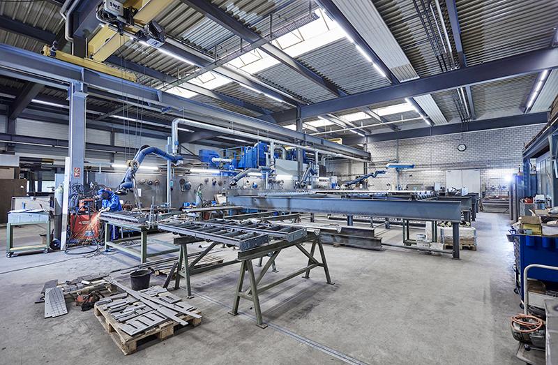 Schweissrauch in Kesselanlagenfertigung Martin AG Matzingen